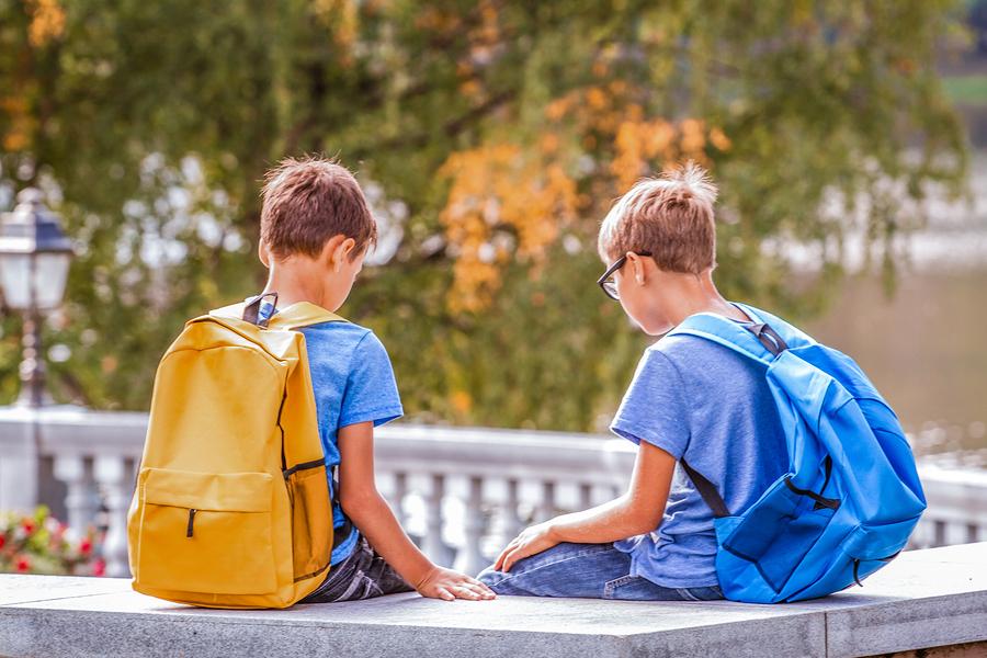 bigstock Sad Tired Kids After School S 256298731