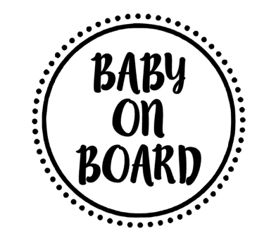 baby on board car decal sticker