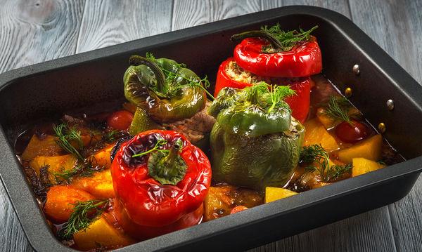 νηστισιμη συνταγη πιπεριές γεμιστές