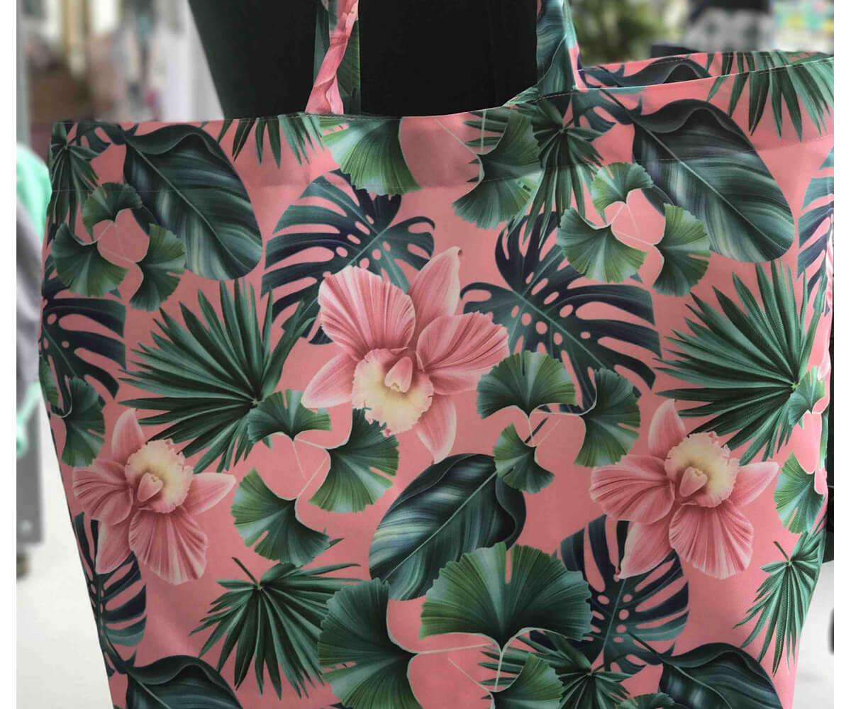 ShopperBagPeachHawaian