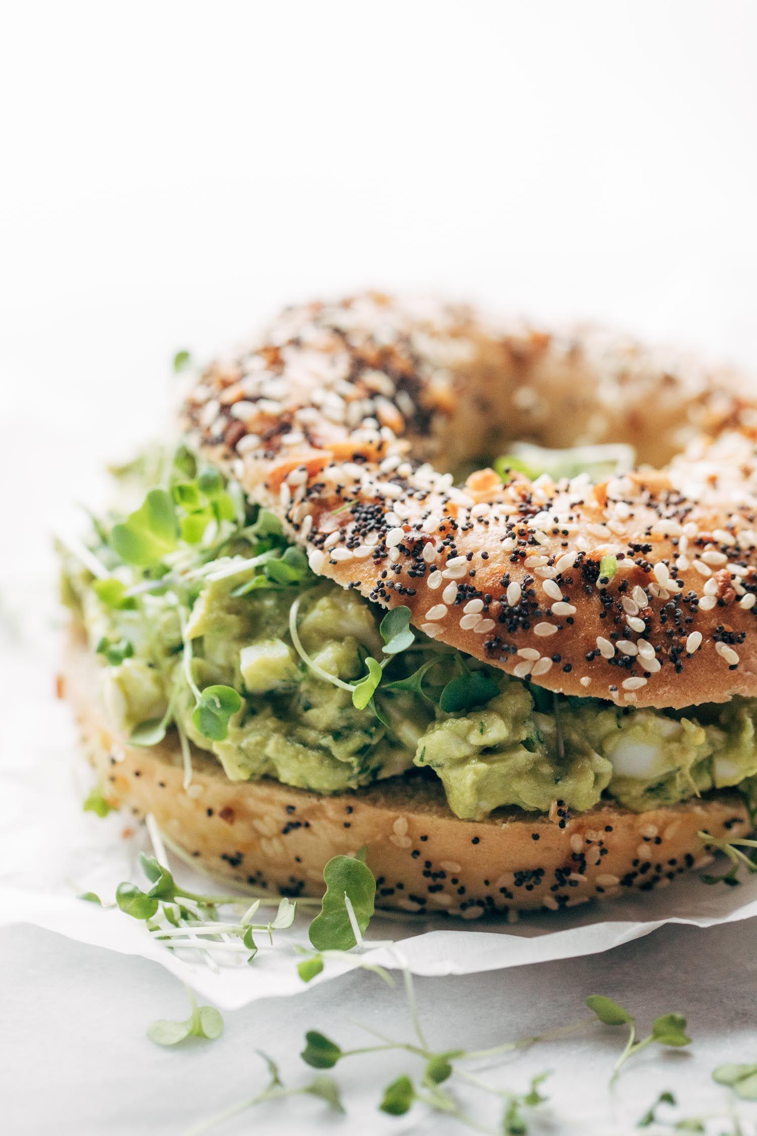bagels με αβοκάντο