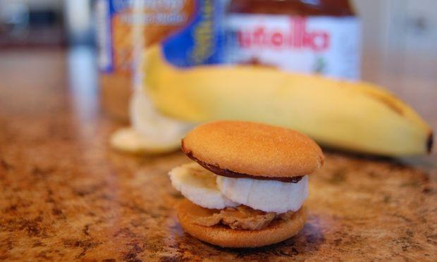 Σάντουιτς με βανίλια και μπισκότο