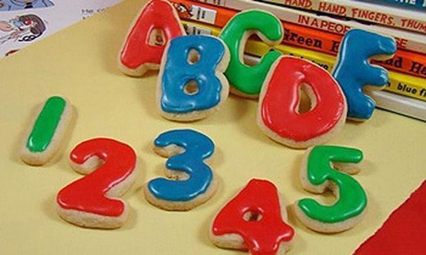 Μάθετε γράμματα και αριθμούς τρώγοντας μπισκότα