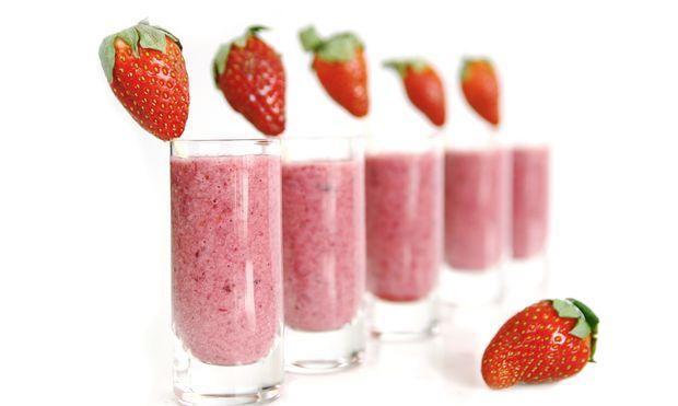 Λαχταριστό smoothie με φράουλες και γιαούρτι