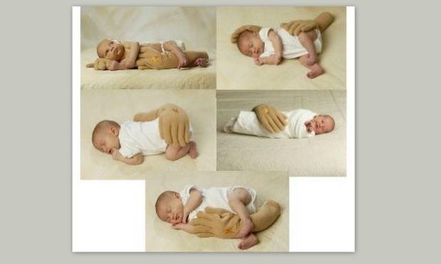 Μαξιλάρια-σφήνες για μωρά, σε σχήμα... χεριών!