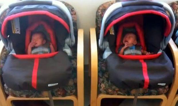 Βίντεο: Η πρώτη επίσκεψη διδύμων στον παιδίατρο!