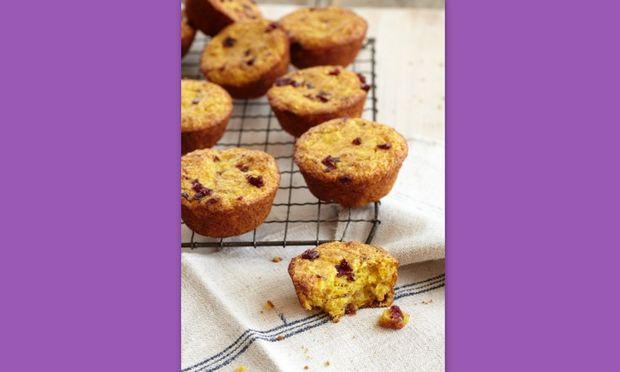 Muffins από πορτοκάλι και cranberry