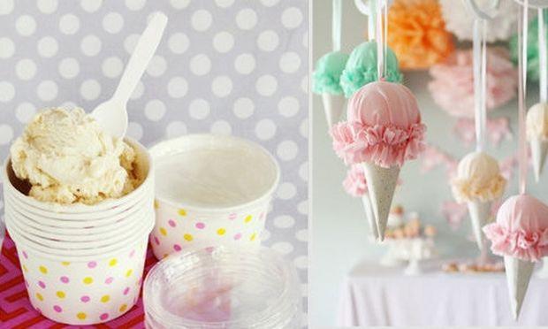 Κάντε ένα πάρτι με θέμα το παγωτό!