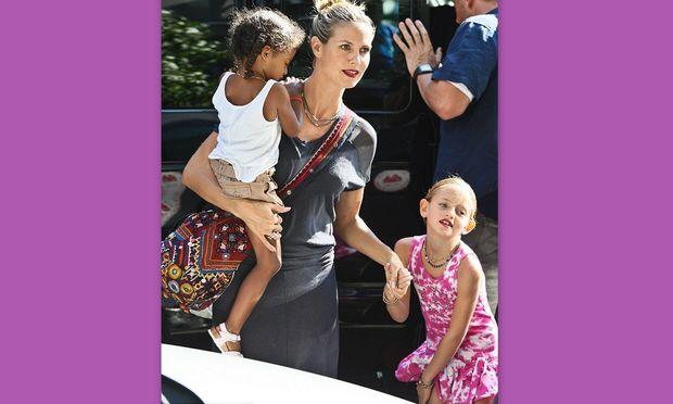 Heidi Klum: Βόλτα στο μουσείο φορώντας το ίδιο κραγιόν με τις κόρες της!