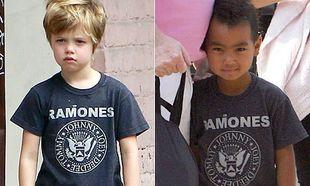 Tα παιδιά Jolie-Pitt μοιράζονται τα ρούχα τους