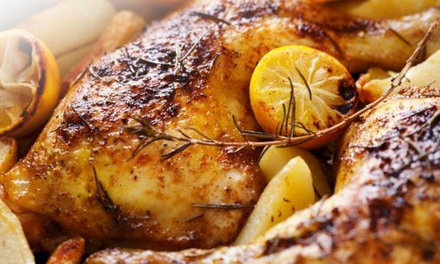 Νόστιμο κοτόπουλο με πορτοκάλι και θυμάρι!