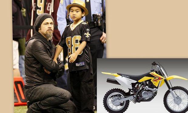 Ο Brad Pitt αγόρασε στον Maddox μηχανή για τα γενέθλιά του!