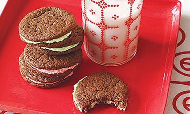 Cookies με σοκολάτα και μέντα