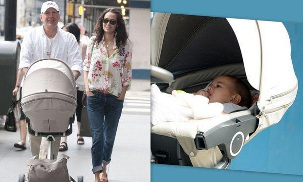 Η πρώτη βόλτα της νεογέννητης κόρης του Bruce Willis για ψώνια!