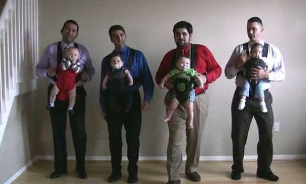 Βίντεο: Όταν οι μπαμπάδες χορεύουν αγκαλιά με τα… μωρά τους!