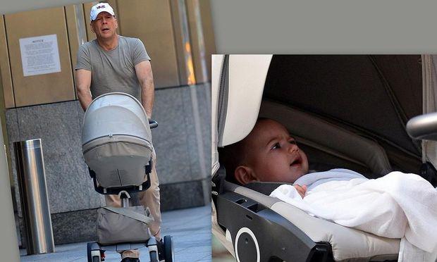 Ο... πολύ σκληρός για να πεθάνει Bruce Willis, ένας τρυφερός μπαμπάς!