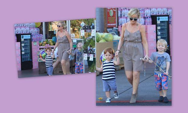 Αmy Poehler: Βόλτα με τους γιους της!