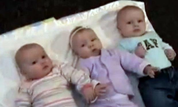 Βίντεο: Τρία μωρά και η... μαγική μπάλα!