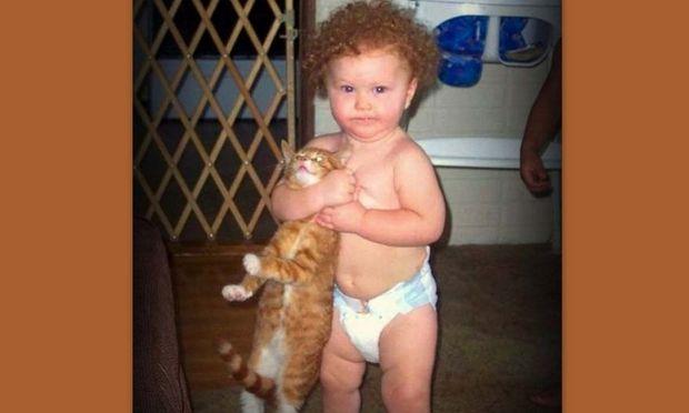 Οι πιο όμορφες φωτογραφίες με μωρά και γάτες!
