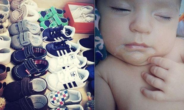 Η τεράστια συλλογή παπουτσιών του νεογέννητου γιου της Molly Sims (φωτό)