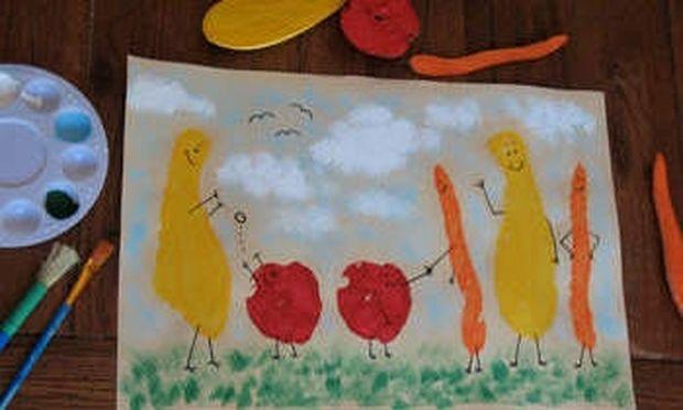 Ζωγραφίστε με φρούτα και λαχανικά