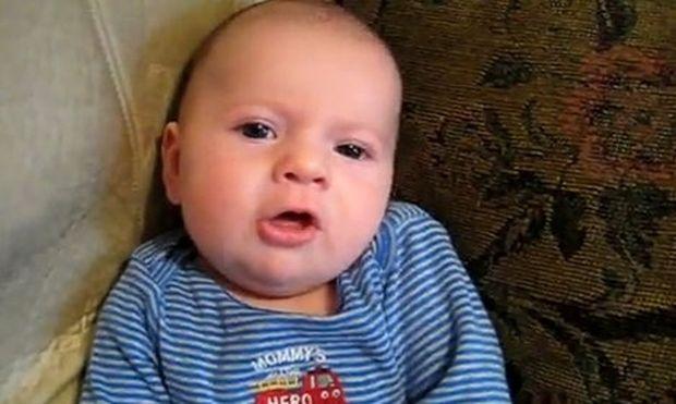 Μωρό δύο μηνών λέει «Σ' αγαπώ…»