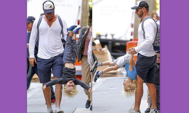 Τα παιδιά της Naomi Watts, παίζουν με τον μπαμπά τους!