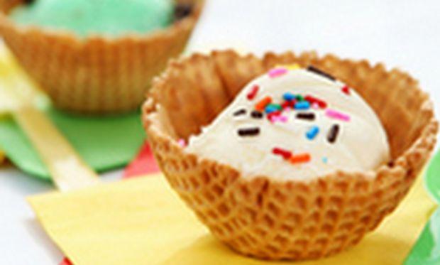 Γλυκά με παγωτό και καραμέλα!