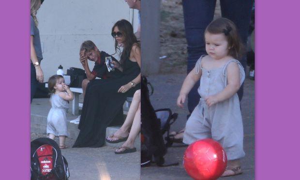 Victoria Beckham: Παρακολουθώντας την Harper να παίζει μπάλα