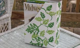 Φτιάξτε θήκες για να βάζετε χαρτιά και περιοδικά