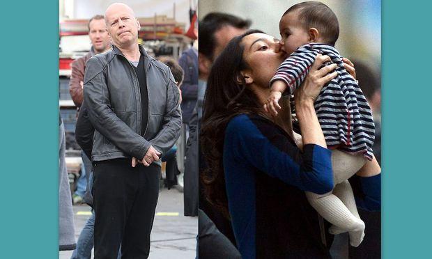 Bruce Willis: Επίσκεψη από τη γυναίκα και την κόρη του στα πλατό