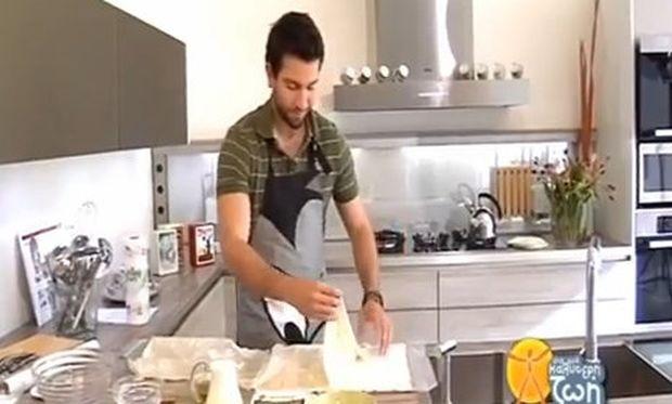 Εύκολη λαχταριστή τυρόπιτα από τον Νικόλα Σακελλαρίου!