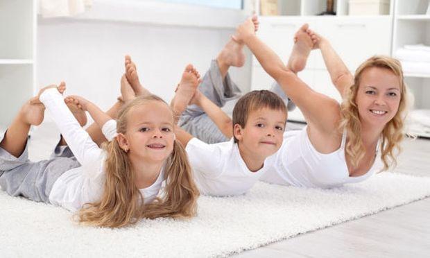 Γυμναστείτε μαζί με τα παιδιά σας
