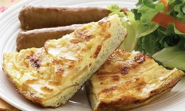 Φριτάτα με μήλο και τυρί