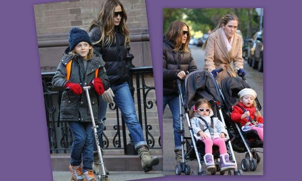 Sarah Jessica Parker: Πρωινή βόλτα με τα παιδιά!
