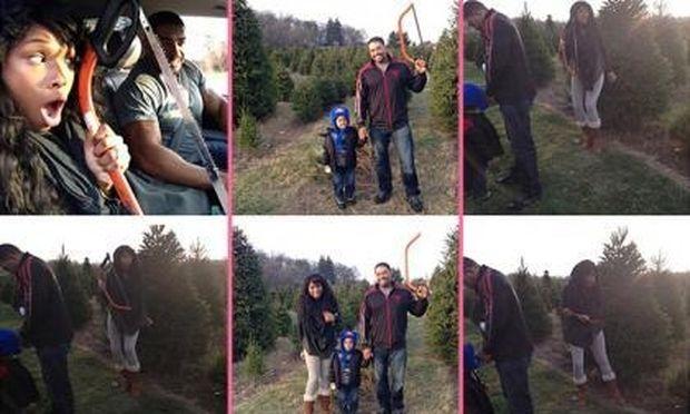 Jennifer Hudson: Ψάχνοντας με την οικογένειά της το τέλειο δέντρο