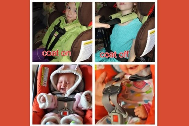 Γιατί δεν πρέπει να φοράτε μπουφάν στα παιδιά όταν είναι στο καρεκλάκι του αυτοκινήτου!