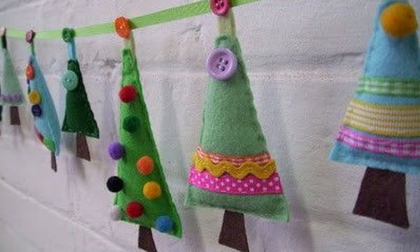 DYI: Χριστουγεννιάτικο δέντρο από τσόχα. Μια υπέροχη κι εύκολη κατασκευή!