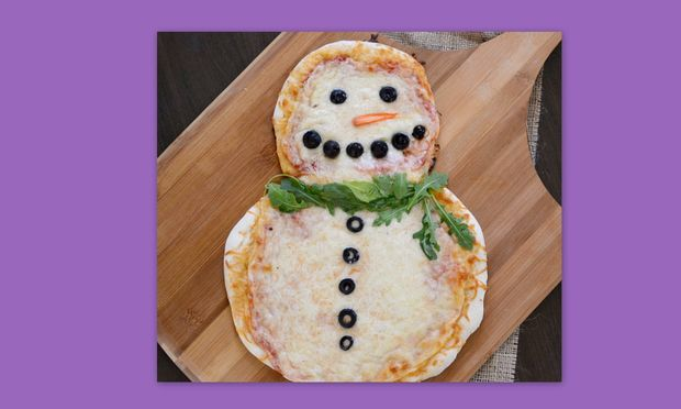 Μία πίτσα… χιονάνθρωπος!