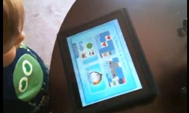 Βίντεο: Πιτσιρικάς μαθαίνει την αλφάβητο και τα χρώματα από το I Pad!