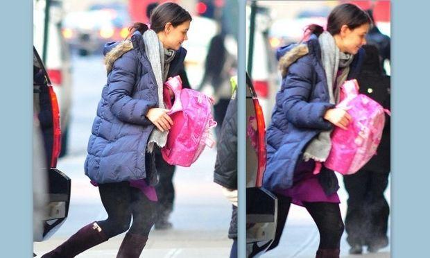 Η Katie Holmes έτρεξε στο σχολείο της Suri γιατί ξέχασε τη σάκα της!
