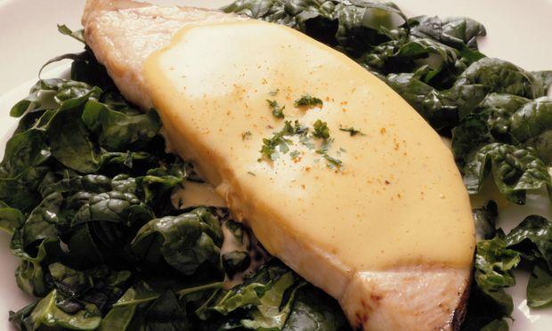 Μυρωδάτο ψάρι με σπανάκι!