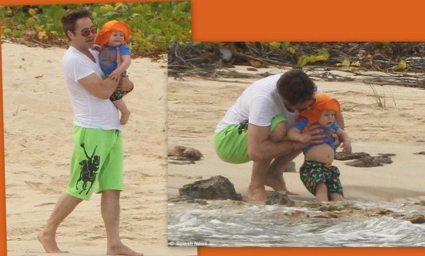 Robert Downey jr: Η πρώτη βουτιά του γιου του!