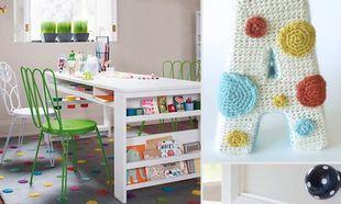 Ένα παιδικό δωμάτιο όλο πουά!