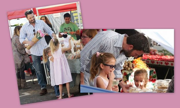 Ben Affleck: Γλυκά για τις κόρες του και λουλούδια για την γυναίκα του!