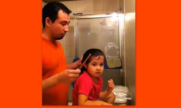 Βίντεο: Μπαμπάς δίνει συμβουλές για τον καλλωπισμό της κόρης σας!