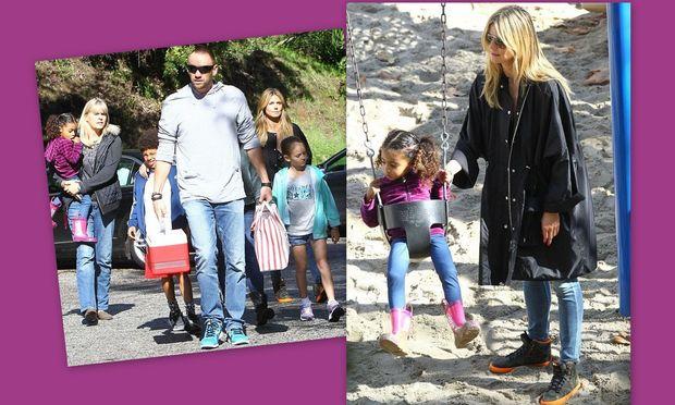 Heidi Klum: Με τα παιδιά της στην παιδική χαρά!