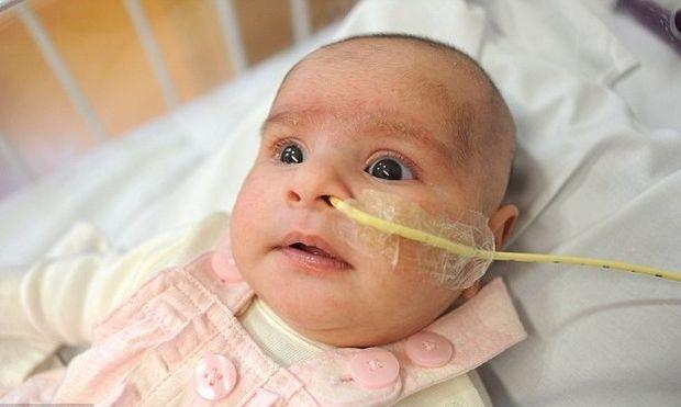 Μωρό που γεννήθηκε παλεύοντας για τη ζωή του σώθηκε από γέφυρα ζωής που έστησαν γιατροί για χάρη της