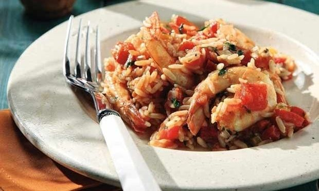 Ριζότο λαχανικών με μικρές γαρίδες!