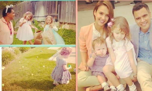 Τα κορίτσια της Jessica Alba συμμετείχαν στο κυνήγι του πασχαλινού αυγού! (φωτό)